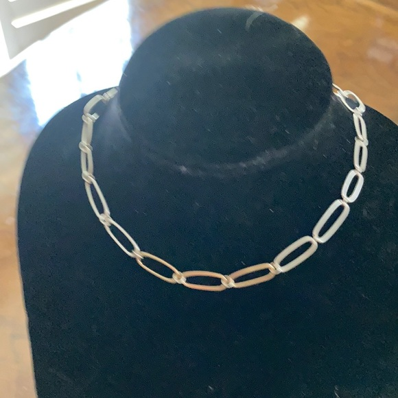 2 tone gold and silver chain necklace
